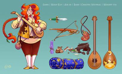 Dungeons and dragons: Sahn by OwlyGem
