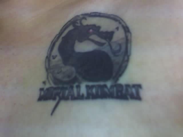 mortal kombat logo tattoo