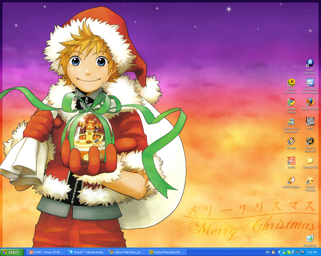 Kingdom Hearts Christmas Wallpaper