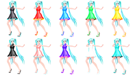 Keyhole Dress Color Combinations by Mario-and-Sonic-Guy