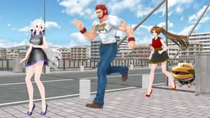 Friend Reunion (Alexander, Haku, Amy, and Poochy)