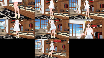 [MMD Comic] Amy's Dress Shopping Spree