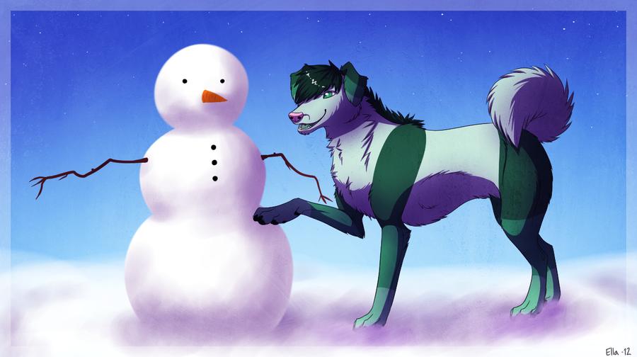 snowman by Pyttinski