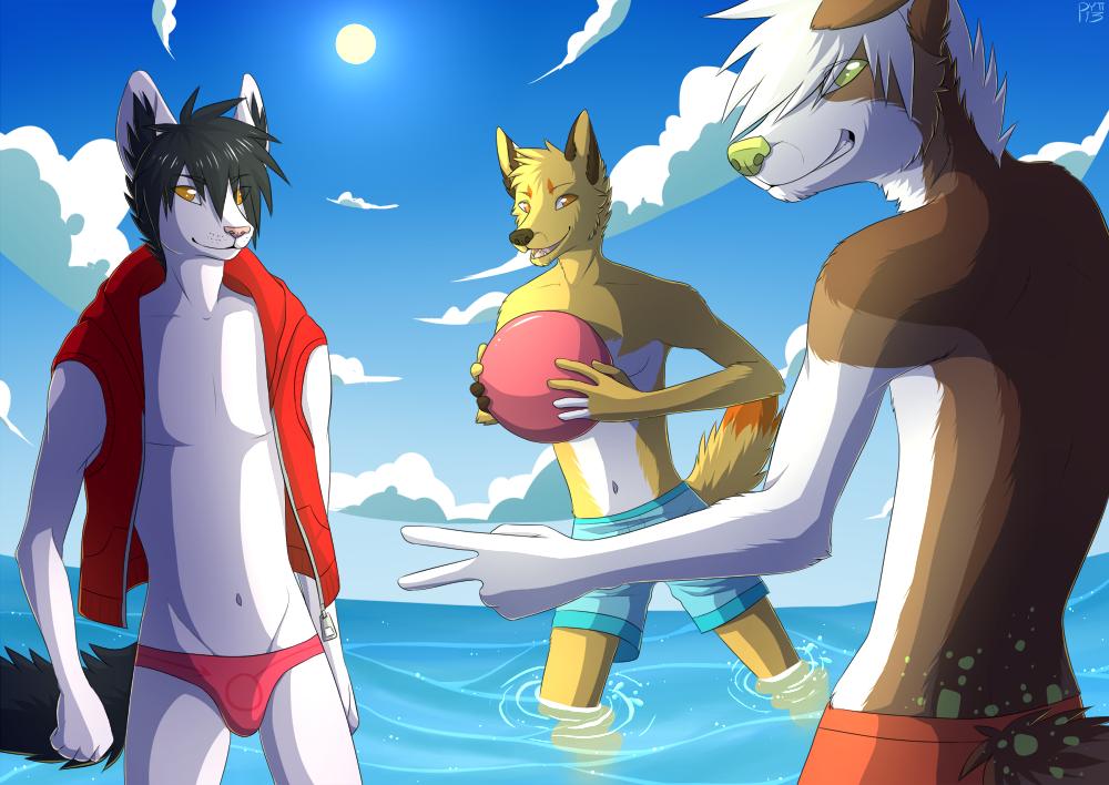 swimming anime by Pyttinski