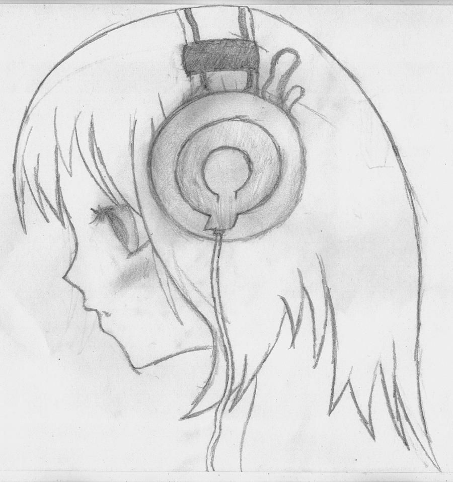 Headphones drawing