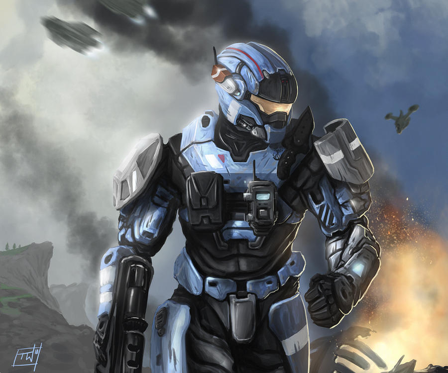 Halo Reach: Carter by thomaswievegg