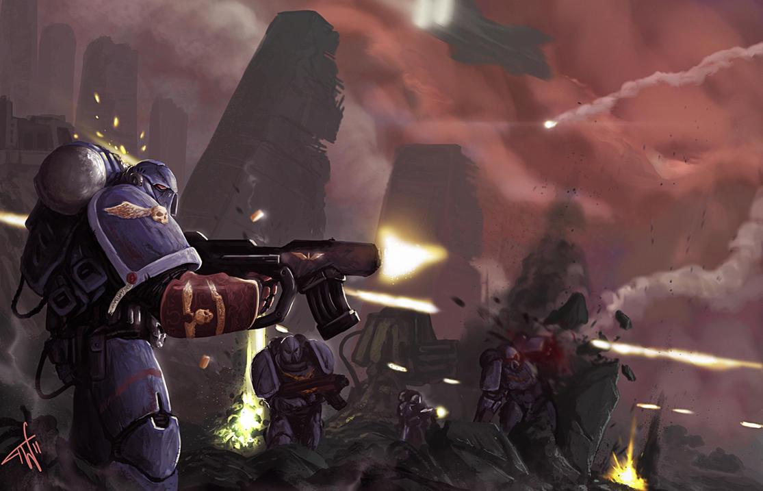Warhammer 40K: Onslaught by thomaswievegg