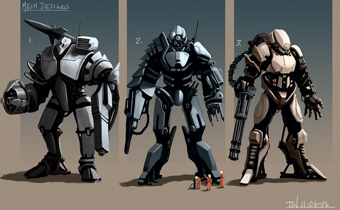 Mech Designs by thomaswievegg