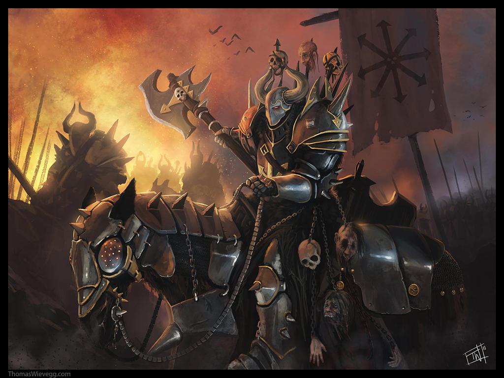 Warhammer: Chaos Rider by thomaswievegg
