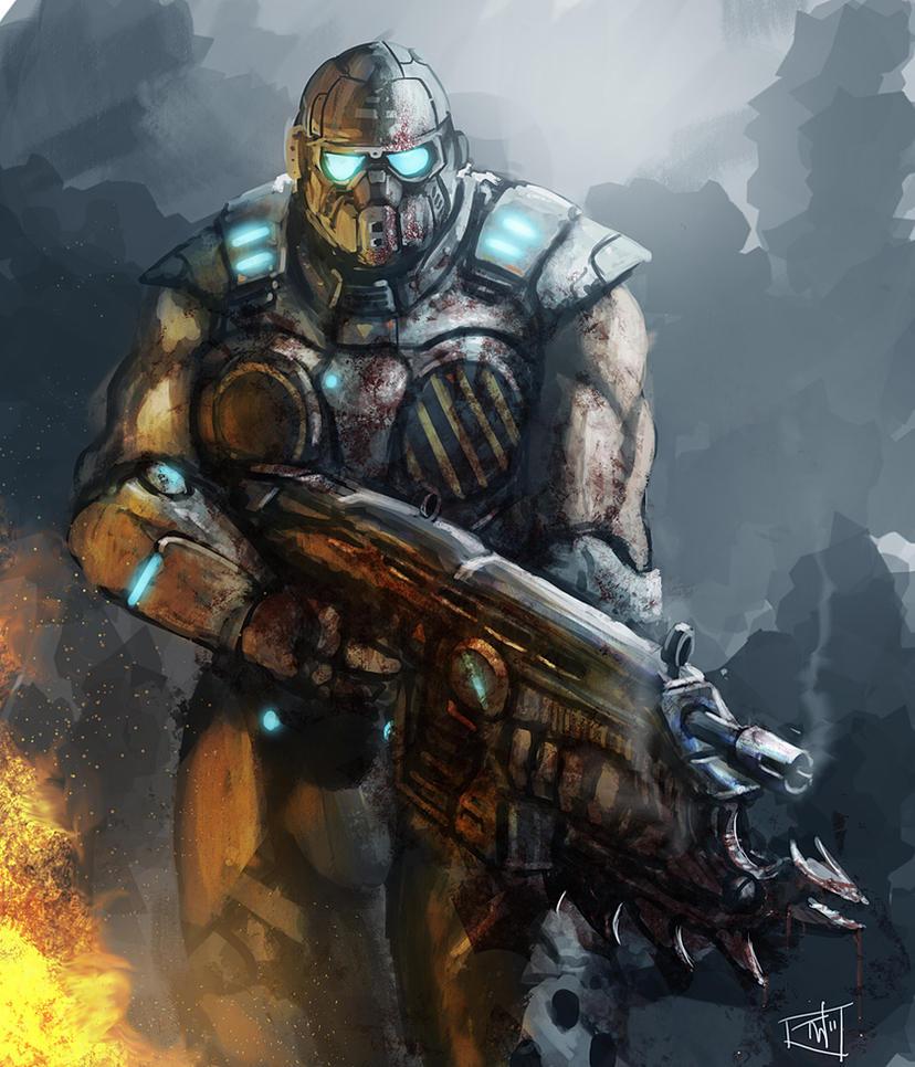 Gears Of War Speedpainting By Thomaswievegg