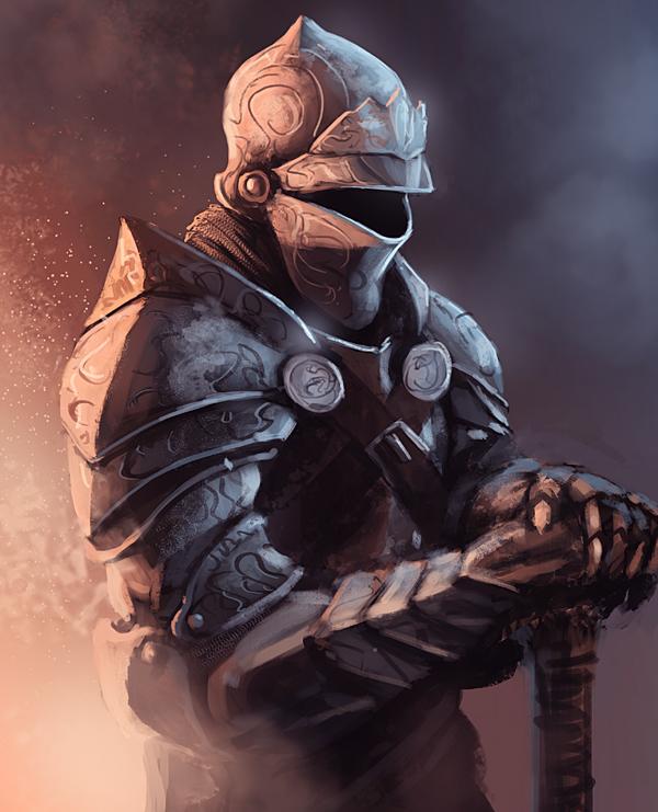 Scribbly knight by thomaswievegg