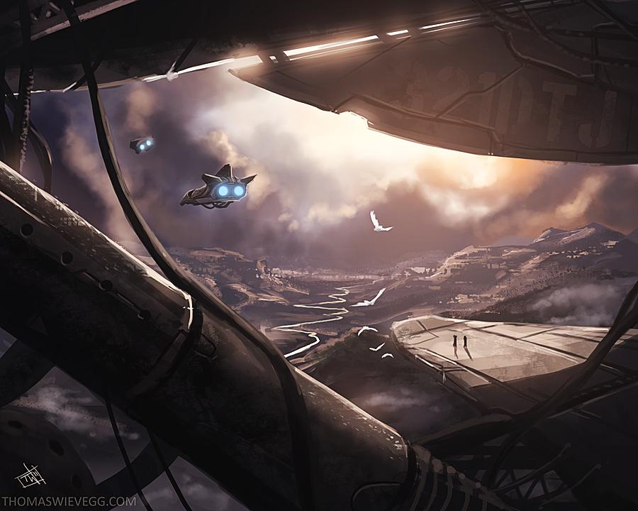 Aerial Dawn by thomaswievegg