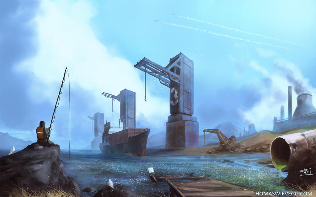 Cranes by thomaswievegg