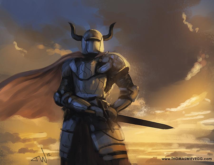 Scribbly knight 2 by thomaswievegg