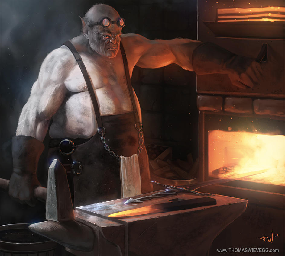 the Blacksmith by thomaswievegg