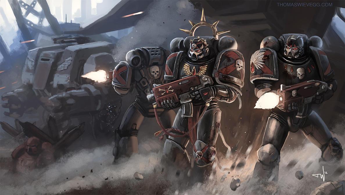Warhammer 40k death company wallpaper - Warhammer 40k Death Company By Thomaswievegg