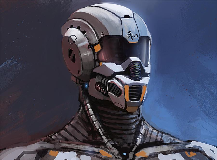 Helmet concept scribble by thomaswievegg