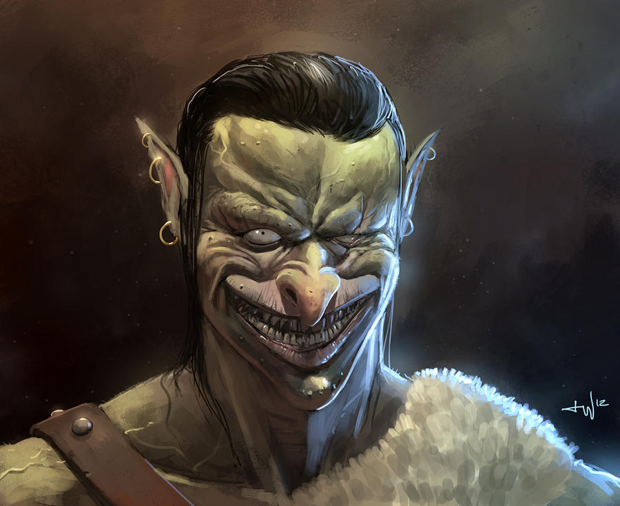 Sexy Orc Portrait by thomaswievegg