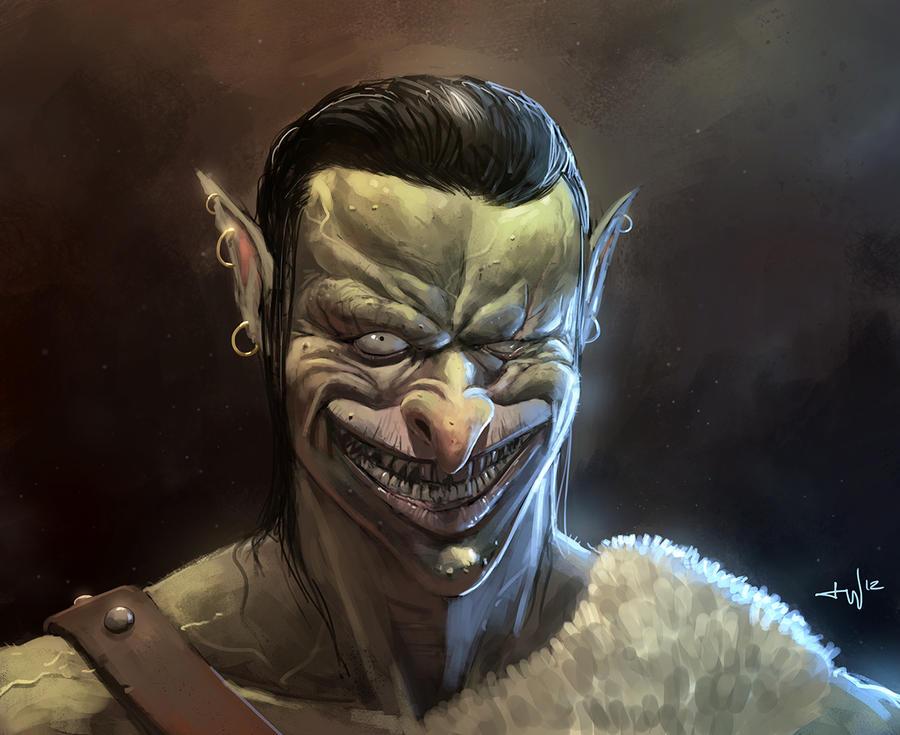 Sexy Orc Portrait by thomaswievegg