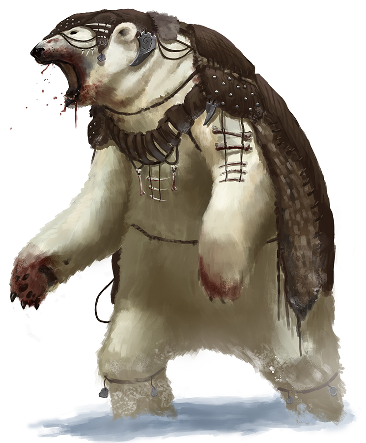 Tribal Polar Bear by thomaswievegg