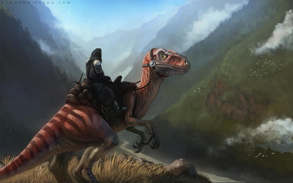 Dino Rider By Thomaswievegg On Deviantart