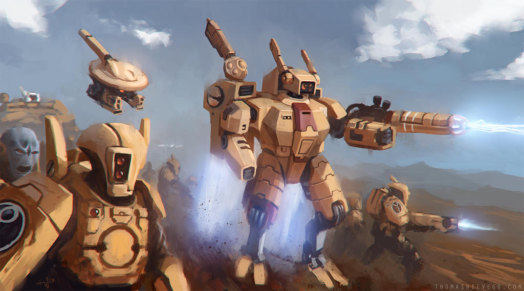 Warhammer 40K: Tau Empire by thomaswievegg