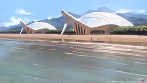 Futuristic beach