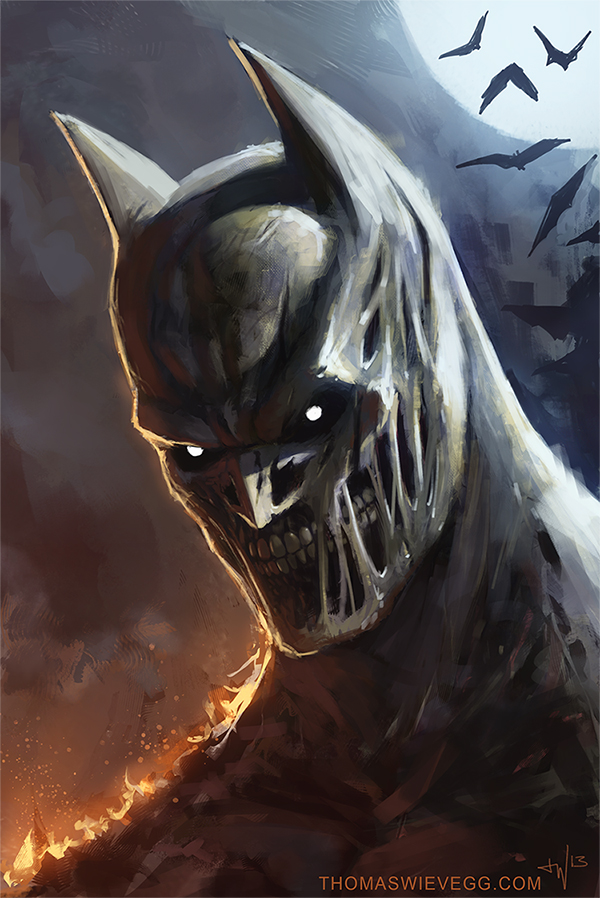 Really Dark Knight by thomaswievegg