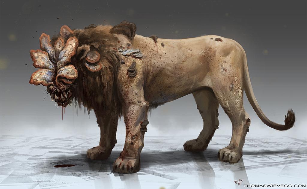 Cordyceps Lion by thomaswievegg