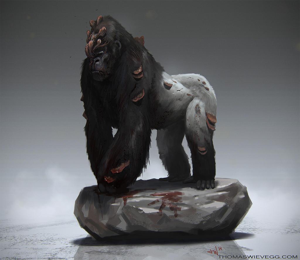 Cordyceps Gorilla by thomaswievegg