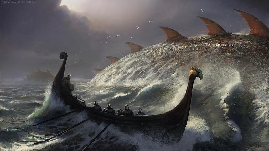 Ominous Ocean by thomaswievegg