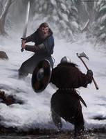 Snow Battle by thomaswievegg
