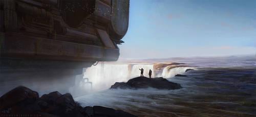Waterfall by thomaswievegg