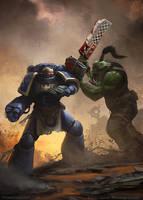 Space Marine vs Ork