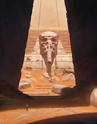 Alien Pharaoh by thomaswievegg