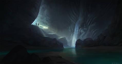 Alien Cave by thomaswievegg