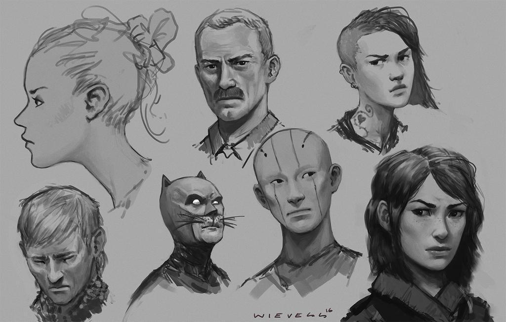 Random sketches 01 by thomaswievegg