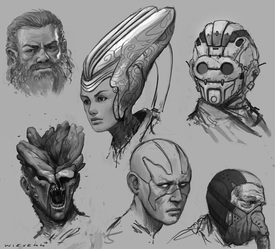 Random sketches 02 by thomaswievegg