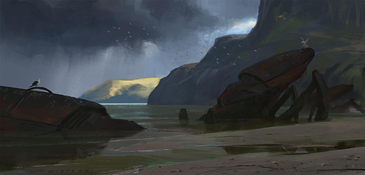Coastline Remnants by thomaswievegg