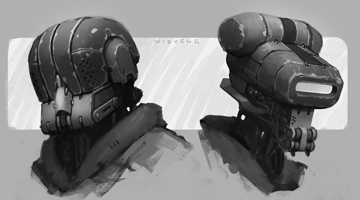 Robot Heads by thomaswievegg