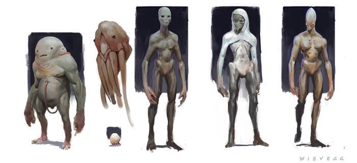 Alien character concepts