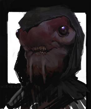 Alien portrait sketch 04 by thomaswievegg