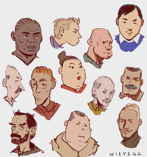 Stylized Portraits from imagination