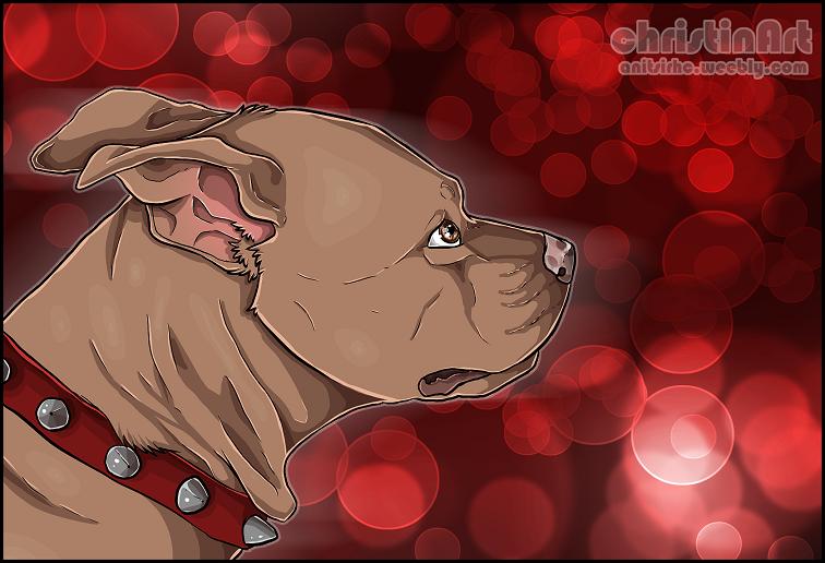 Rednose Pitbull By Chrizka