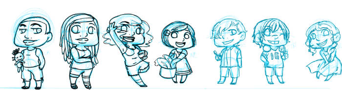 Southern chibis pt.1 preview by Alexander-Rowe