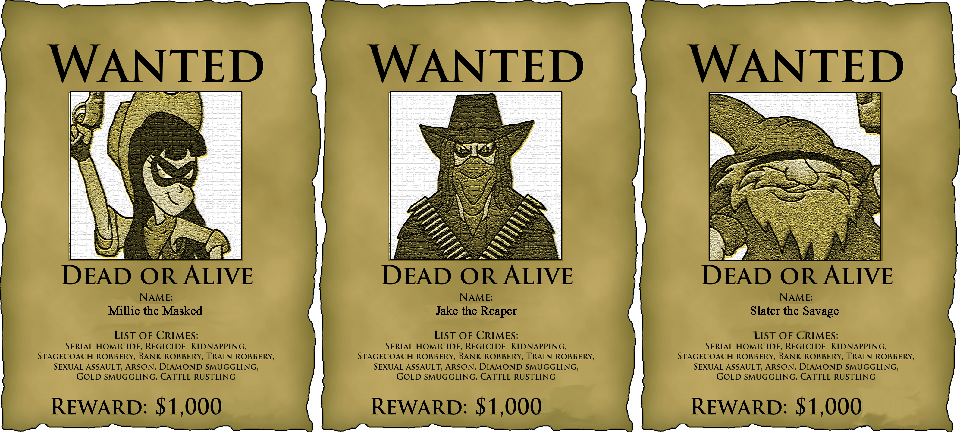 Free printable western wanted poster template