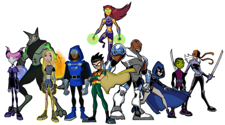 The New Teen Titans by Moheart7