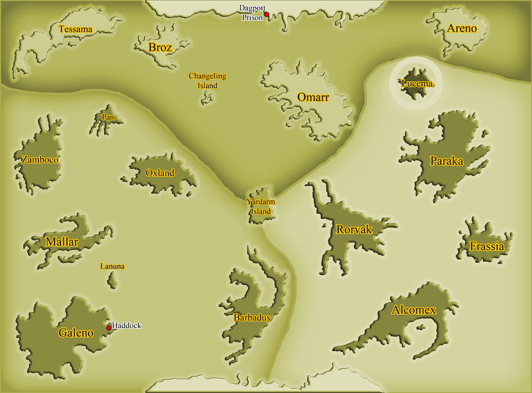 Voyage of the Alicorn - The Great Blue - World Map by Inkheart7