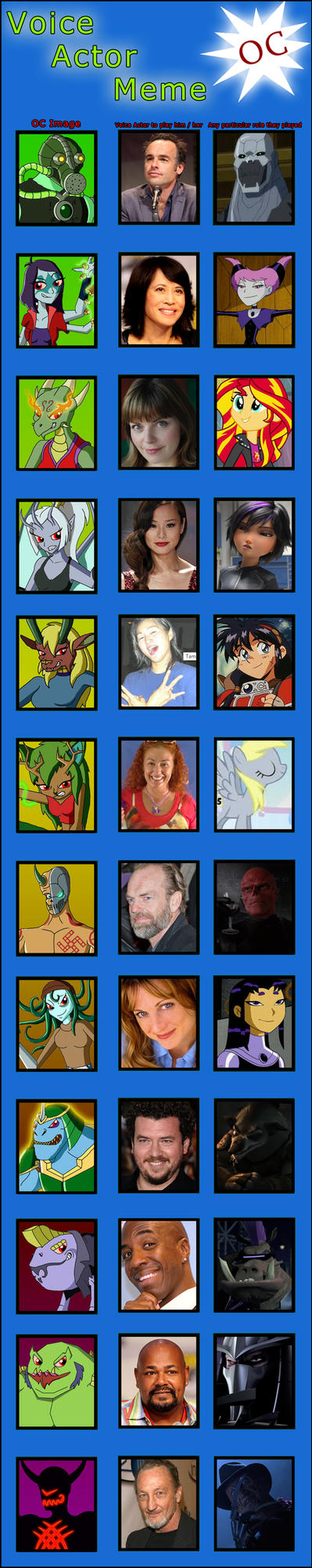 The new Demon Sorcererers - Voice Cast by Moheart7