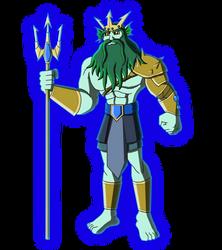 Character Reboot: The 12 Olympians - Poseidon by Moheart7
